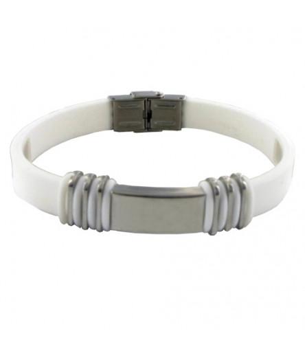 Bracelet Equilibre POWERACTION METAL Taille Unique Blanc