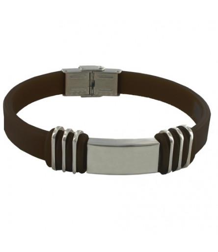 Bracelet Equilibre POWERACTION METAL Taille Unique Chocolat