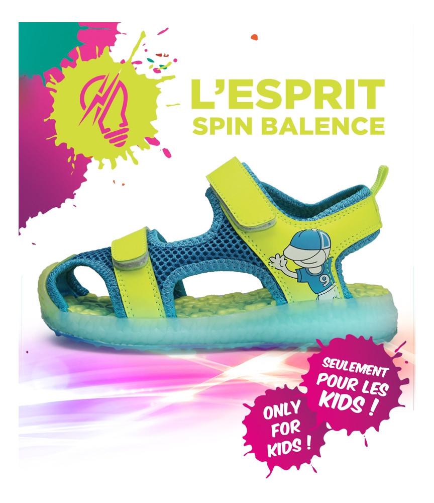 Spinbalence Sandale à LED jaune enfants SA02