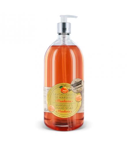 Savon liquide Mandarine 1L Les Petits Bains de Provence