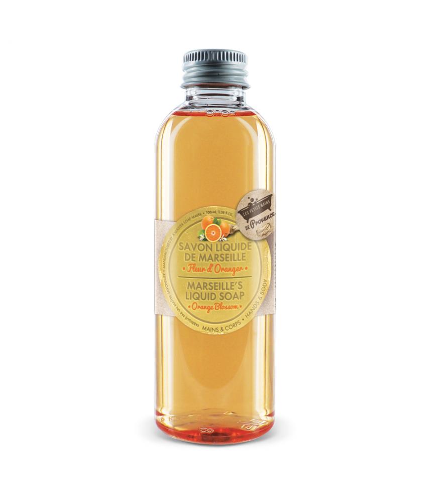 Savon liquide Fleur d'Oranger 100ml Les Petits Bains de Provence