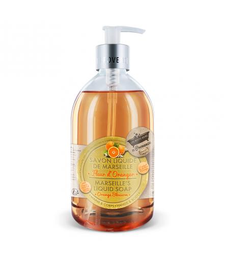 Savon liquide Fleur d'oranger 500 ml Les Petits Bains de Provence