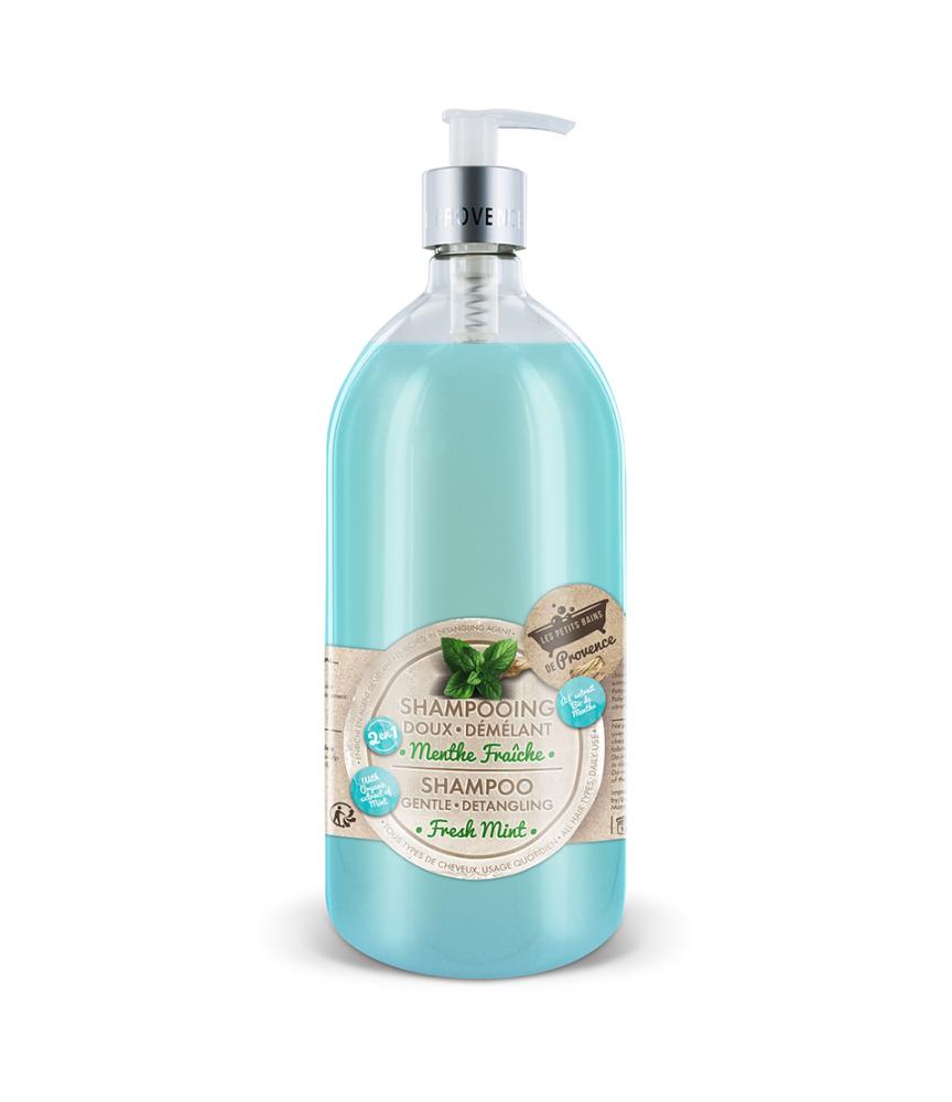 Shampooing Menthe Fraîche 1L Les Petits Bains de Provence