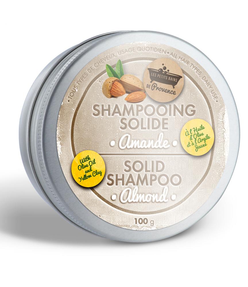 Shampooing solide boite métal Amande Les Petits Bains de Provence