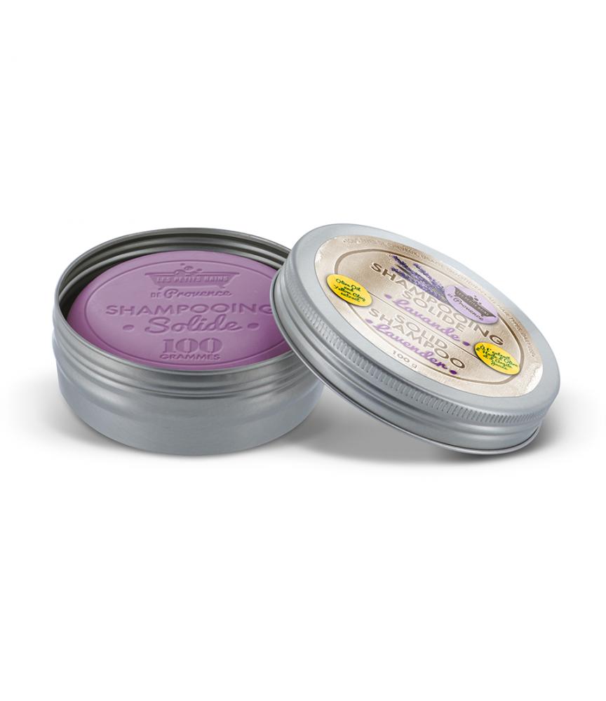 Shampooing solide boite métal Lavande Les Petits Bains de Provence