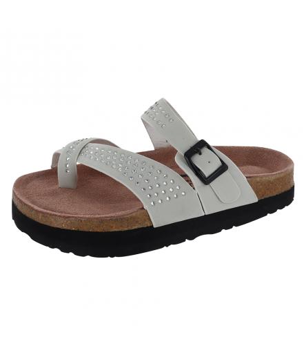 Sandale Silhouette Confort Mistral Crème