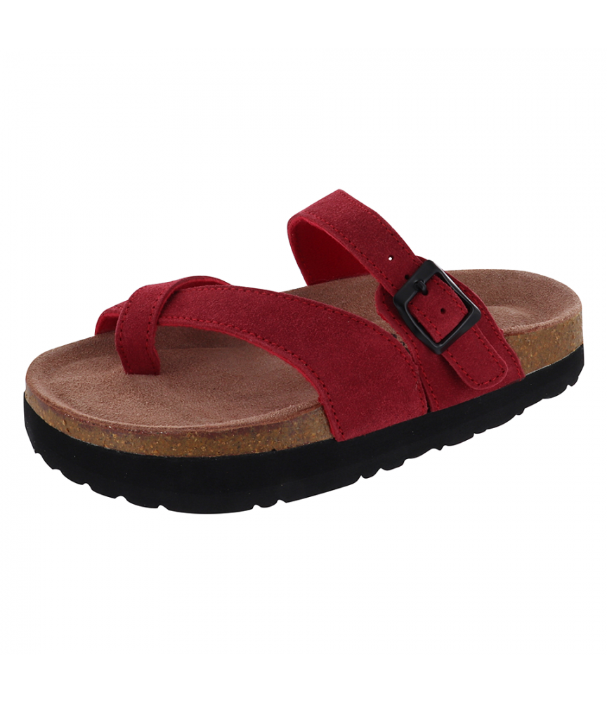 Sandale Silhouette Confort Mistral Rouge