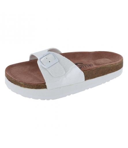 Sandale Silhouette Confort Atlas Blanche Nacrée