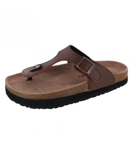 Sandale Silhouette Confort Eole Marron