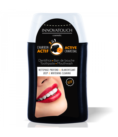 Dentifrice Bain de bouche 2 en 1 au Charbon 100ml Innovatouch Cosmetic