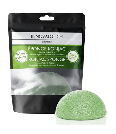 Eponge Konjac enrichie en Aloé Vera Innovatouch Cosmetic