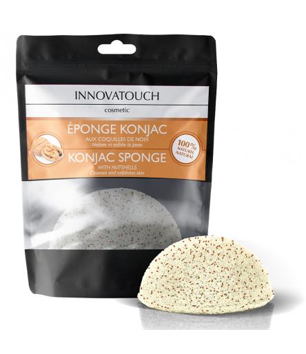 Eponge Konjac aux coquilles de Noix Innovatouch Cosmetic