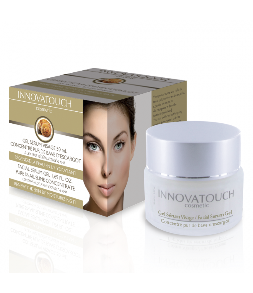 Gel Sérum visage au Concentré pur bave d'escargot Innovatouch Cosmetic