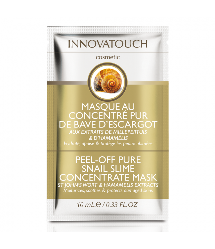 Masque Peel Off au concentré pur de bave d'escargot sachet 10ml Innovatouch Cosmetic
