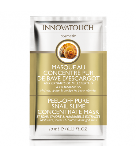 Masque Peel Off au concentré pur de bave d'escargot sachet 10ml Innovatouch Cosmetic