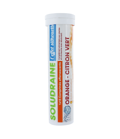 SOLUDRAINE 1 tube de 15 comprimés Effervescents Orange/Citron