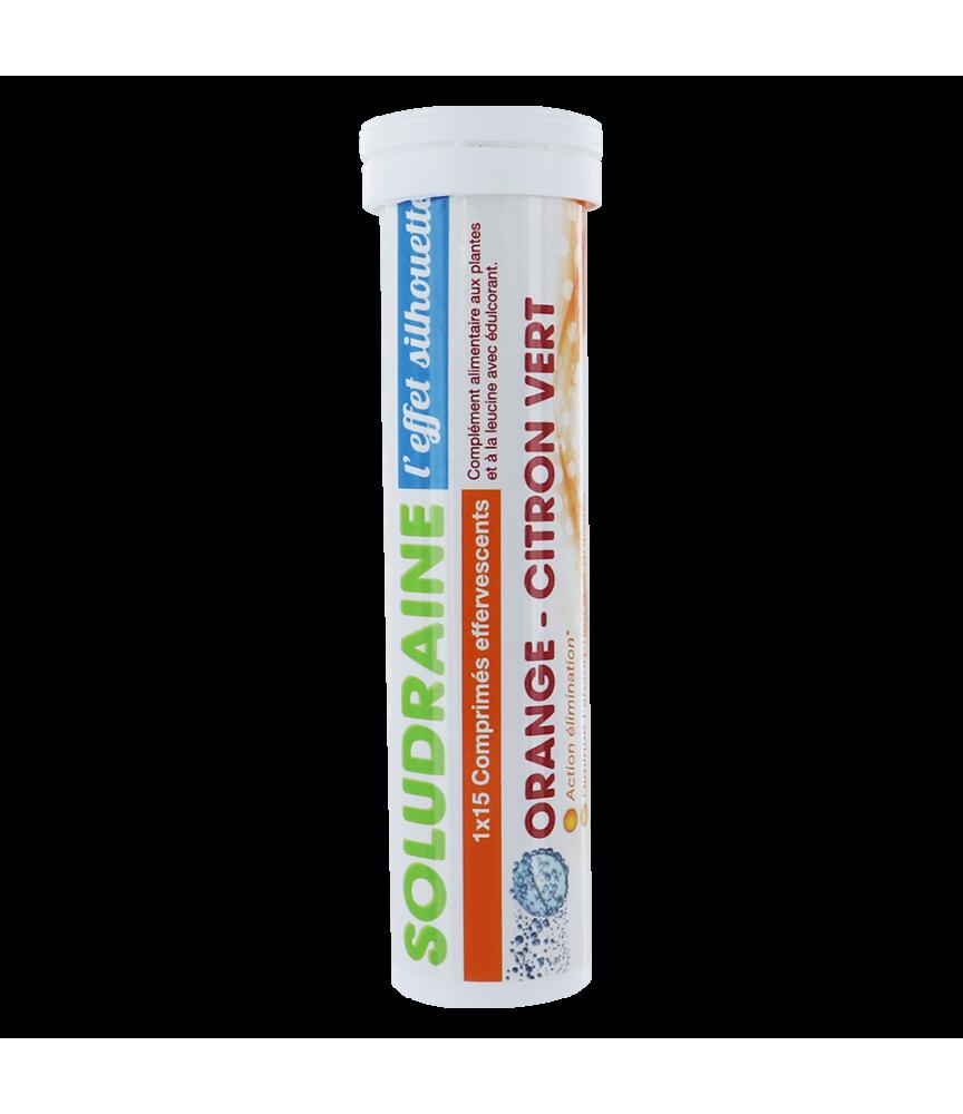 SOLUDRAINE 1 tube de 15 comprimés Effervescents Orange/Citron
