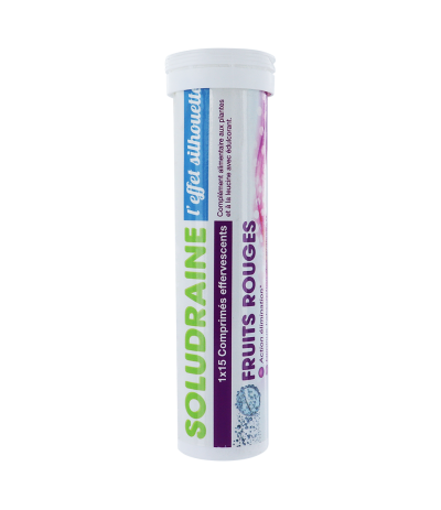 SOLUDRAINE Tube de 15 comprimés Effervescents Fruits Rouge
