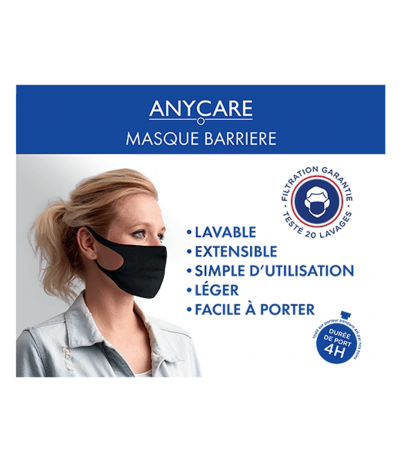 Masque Barrière Noir Anycare