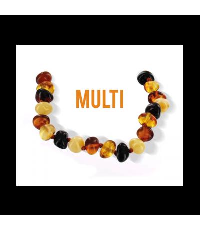 Véritable bracelet d'ambre - Multi