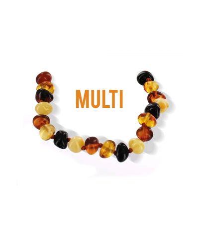 Véritable collier d'ambre - Multi