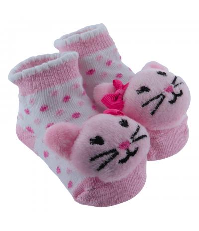Chaussettes Bébé 0-9 mois Chat Panda BabyOops