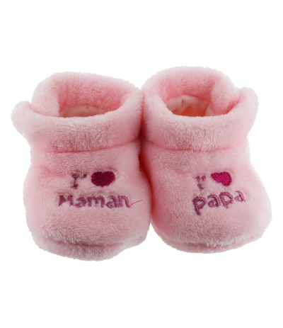 Chaussons d'intérieur 6-12mois Papa Maman Rose BabyOops