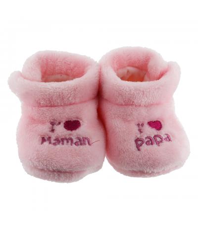 Chaussons d'intérieur 6-12mois Papa Maman Rose BabyOops