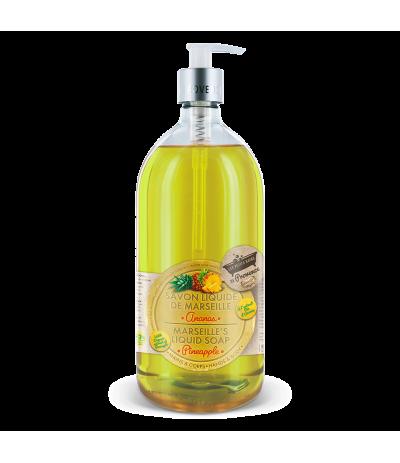 Savon liquide 1L Ananas Les Petits Bains de Provence