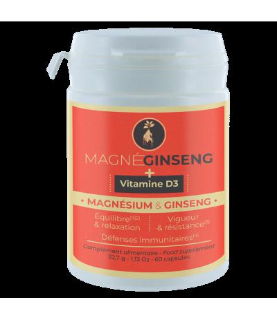 MAGNEGINSENG + Vitamine D3 60 capsules